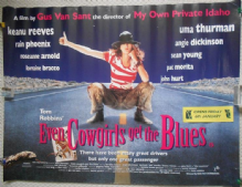 Even Cowgirls Get the Blues, Original UK Quad Film Poster, Uma Thurman, '94